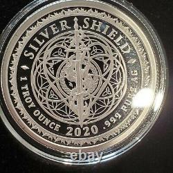 1 OZ. 999 Silver Shield Proof DEATH EAGLE Death of the Dollar Donald Trump ASE