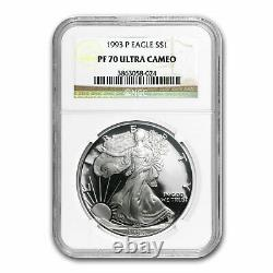 1993-P Proof Silver American Eagle PF-70 NGC SKU #82802