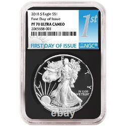 2018-S Proof $1 American Silver Eagle NGC PF70UC FDI First Label Retro Core