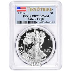 2018-S Proof $1 American Silver Eagle PCGS PR70DCAM First Strike Label