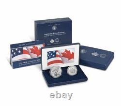 2019 1oz Silver Eagle & Maple Leaf Pride Two Nations 2-Coin US Mint Set SKU58513