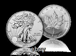 2019 Pride of Two Nations US $1 Silver Eagle & $5 Maple Leaf in sealed Mint box