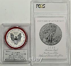 2019 S $1 Enhanced Reverse Proof Silver Eagle PCGS PR70 FDOI Mercanti Signature