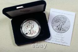 2019-S 19XE Enhanced Reverse Proof Silver Eagle with Blue Box & Numbered COA