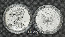 2019-W 1oz American Silver Eagle Enhanced Reverse Proof Pride Of Two Nations