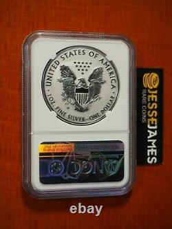 2019 W Enhanced Reverse Proof Silver Eagle Ngc Pf70 Miles Standish Signed Label