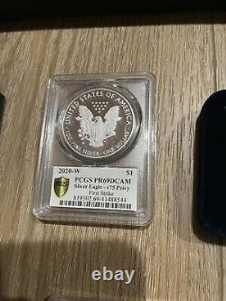2020 End of World War II 75th Anniversary American Eagle Silver Proof 9 PR69