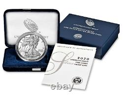 2020-S SILVER EAGLE PROOF $1 OGP withCASE & COA Free Shipping