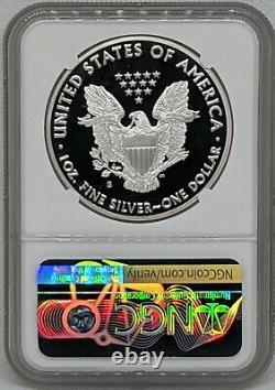 2020 S Silver American Eagle NGC PR69 Ultra Cameo San Francisco Trolley Label