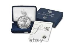 2020 S Silver American Eagle San Francisco with Box & COA
