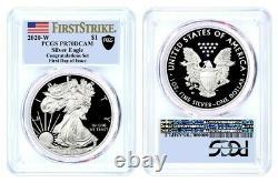 2020 W $1 Proof Silver Eagle Congratulations Set PCGS PR70 DCAM FDOI