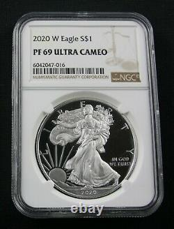 2020 W American Silver Eagle Ngc Pf 69