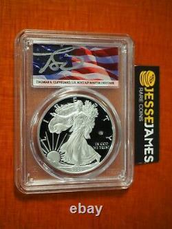 2020 W V75 Privy Proof Silver Eagle Pcgs Pr69 Dcam First Strike Flag Cleveland