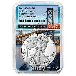 2021-S Proof $1 Type 2 American Silver Eagle NGC PF70UC FDI San Francisco Core