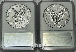 2021 S W $1 NGC PF70 REVERSE PROOF FDOI FIRST DAY SILVER EAGLE 2pc DESIGNER SET