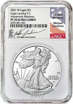 2021 Silver Eagle TYPE 2 PF70 AR Michael Gaudioso Signed (presale)