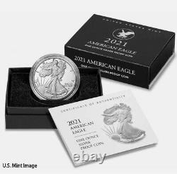 2021 W American 1 oz Silver Eagle Type 2 Proof OGP T2 LANDING EAGLE PRESALE