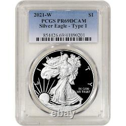 2021 W American Silver Eagle Proof PCGS PR69 DCAM