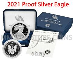 2021-W Proof American Silver Eagle GEM Proof OGP PRESALE (21EA)