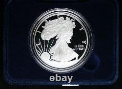 2021 W Proof American Silver Eagle with Box and COA US Mint OGP 1 oz Fine SIlver