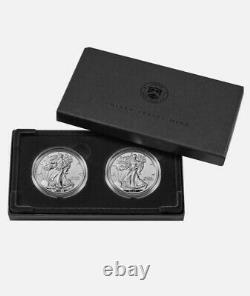 American Eagle 2021 One Ounce Silver Reverse Proof Two Coin Set 21XJ CONFIRMED