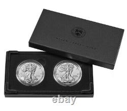 American Eagle 2021 One Ounce Silver Reverse Proof Two-Coin Set Design