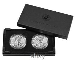 American Eagle 2021 One Ounce Silver Reverse Proof Two-coin Set PRE SALE 21XJ