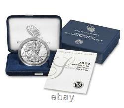 In Stock 2020 S Proof Silver Eagle In Box/coa Mint Fresh! 20em