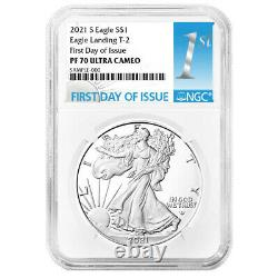Presale 2021-S Proof $1 Type 2 American Silver Eagle NGC PF70UC FDI First Labe