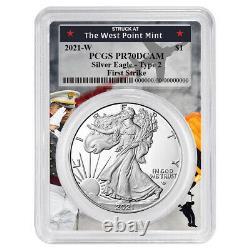 Presale 2021-W Proof $1 Type 2 American Silver Eagle PCGS FS PR70DCAM West Poi