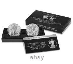 Presale 2021 W & S Reverse Proof Silver Eagle 2 Coin Designer Edition Set 21xj