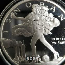 1 Oz 999 Bouclier D'argent Preuve Aveuglé Liberté Warbird Silver Eagle Death Dollar