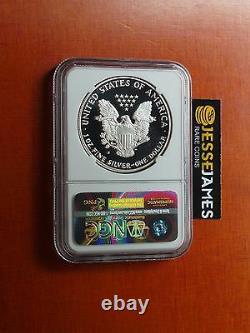 1986 S Proof Silver Eagle Ultra Ngc Pf69 Cameo John Mercanti Signée À La Main Étiquette