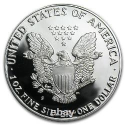1986-s 1 Oz Proof Silver American Eagle (avecbox & Coa) Sku #1088