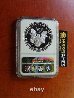 1993 P Proof Silver Eagle Ngc Pf69 Ultra Rare Cameo Mercanti Signé