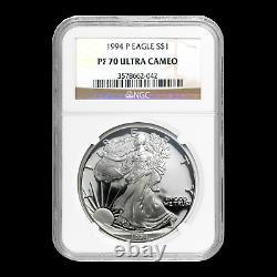 1994-p Proof Silver American Eagle Pf-70 Ngc (registry Set) Sku #34563