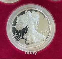 1995 W 10th Anniversary Set 5pc American Gold Eagle Set Et Silver Eagle Ogp