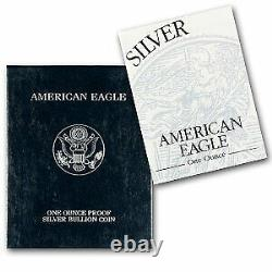 1996-p 1 Oz Proof Silver American Eagle (withbox & Coa) Ugs #1067