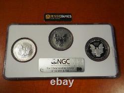 2006 P Reverse Proof Silver Eagle Ngc Pf69 Ms69 Pf69 20th Anniversary Set Multi