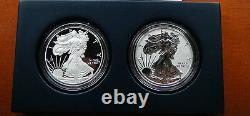 2012 S Proof Inversée Silver Eagle 2 Coin San Francisco Avec Boîte / Coa