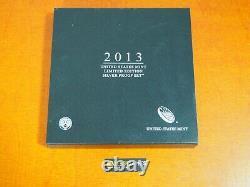 2013 W Proof Silver Eagle Edition Limitée Jeu De Preuve Dans Ogp