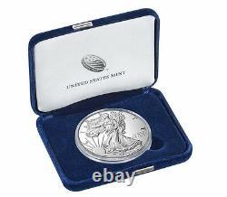 2016 W American Eagle Silver Proof 1 Oz 30th Anniversary Edged Lettering Box Coa