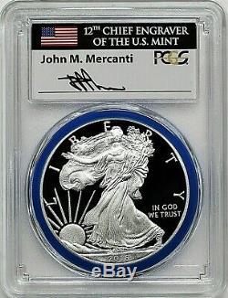 2016-w Monnaie Silver Eagle-engraver West Point Mint Hoard-pcgs Pr70-mercanti-drapeau