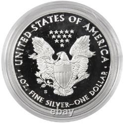 2017-s Proof $1 American Silver Eagle Félicitations Ensemble Ogp & Coa