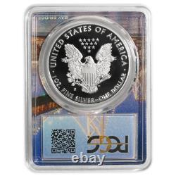 2018-s Preuve 1 $ American Silver Eagle Pcgs Pr70dcam Fdoi San Francisco Cadre