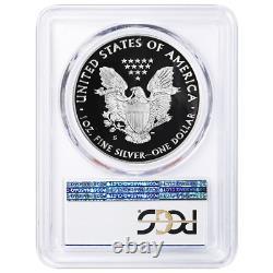 2018-s Proof $1 American Silver Eagle Pcgs Pr70dcam Fdoi Label