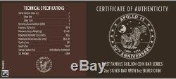 2019 3 Oz 50e Anniv. Apollo 11 Américain Silver Eagle 999 Coin / Bar Box Set / Aoc