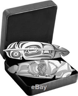 2019 Eagle Feather Art Côte Nord-ouest 20 1oz $ Preuve En Argent Pur Coin Canada