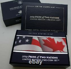 2019 Pride Of Two Nations Argent American Eagle Et Maple Améliorée Preuve Inversée