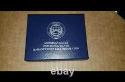 2019 S American Eagle One Argent Amélioré Preuve Ounce Inverse Pièce Pf70 Rare